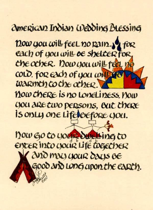 The American Indian Wedding Blessing done in celtic script  www.quilligraphy.com