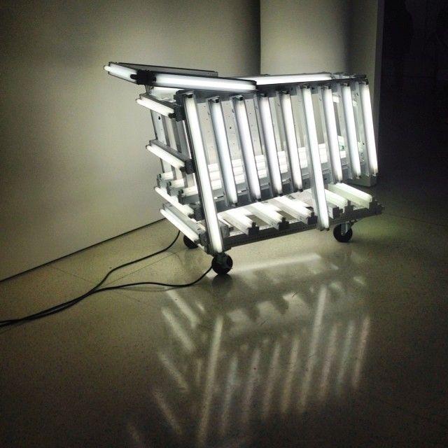 Really Intriguing Art Featuring Florescent Lights Design Fluorescent