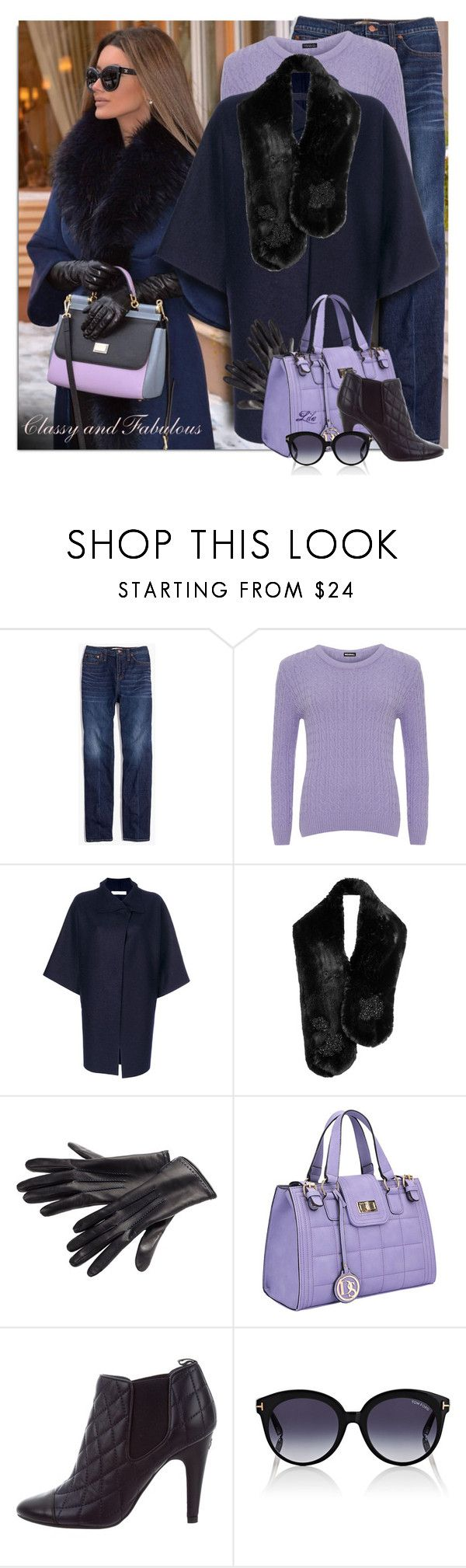 """""""Classy and Fabulous"""" by breathing-style ❤ liked on Polyvore featuring Madewell, WearAll, Harris Wharf London, Simone Rocha, Dasein, Chanel and Tom Ford"""