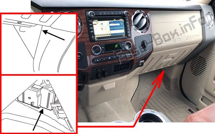 Fuse Box Diagram Ford F-250/F-350/F-450/F-550 (2008-2012) | F250, Fuse box, Fuse panel