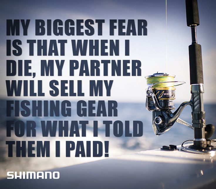 My biggest fear is that when I die, my partner will see my fishing gear for what I told them I paid!  #fishing #meme #shimano #fishshimano https://www.facebook.com/Shimano.Fish