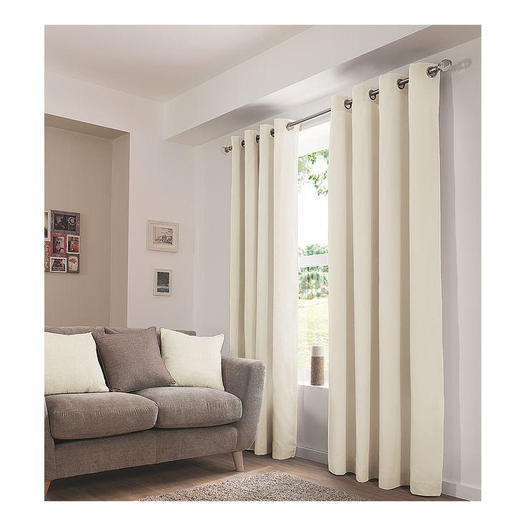 George Home Cream Eyelet Curtains | Curtains | ASDA direct