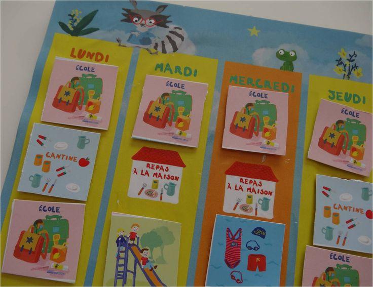 Clo S : joli semainier magnétique réalisé avec la Box Enfant Tiniloo.