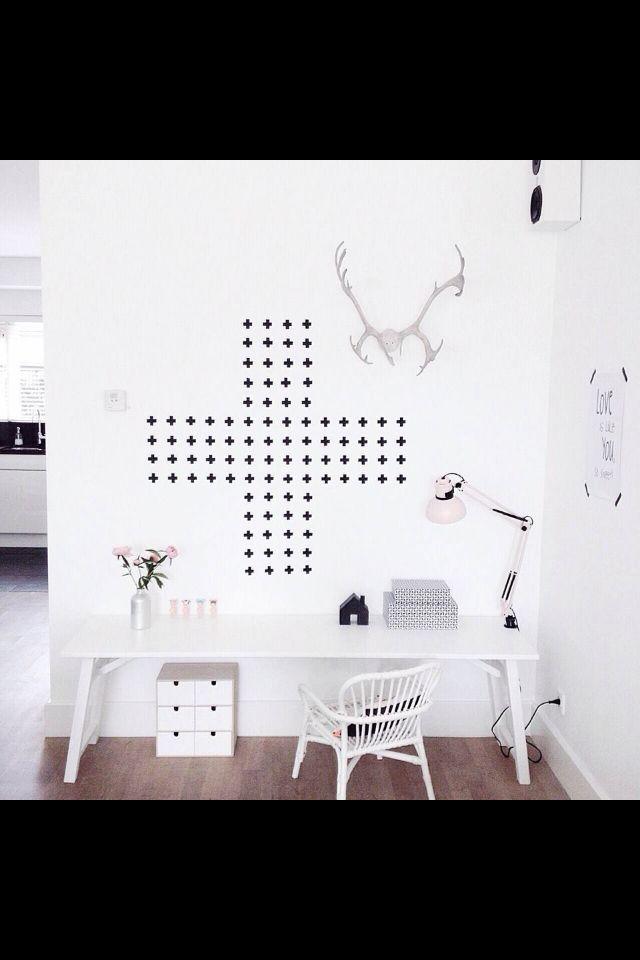 Mijn favoriet in de washi tape op de muur. Stijlvol! Inspiratie voor ...