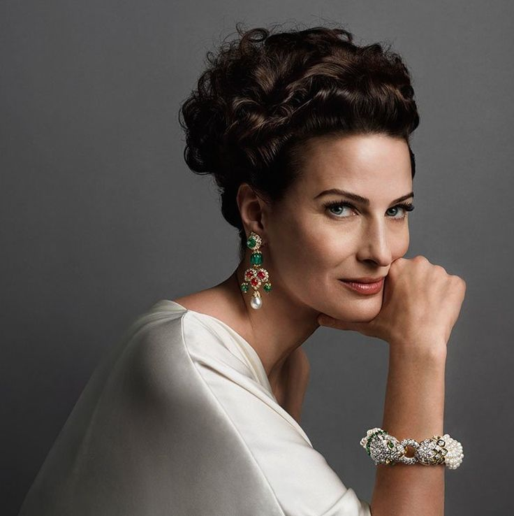 Marina Rust in David Webb jewelry for 2014 campaign photographed by Inez and Vinoodh