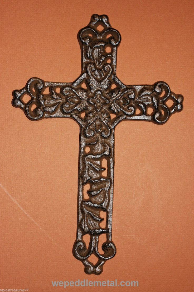 Elegant Iron Wall Decor : Best images about crosses on burlap cross