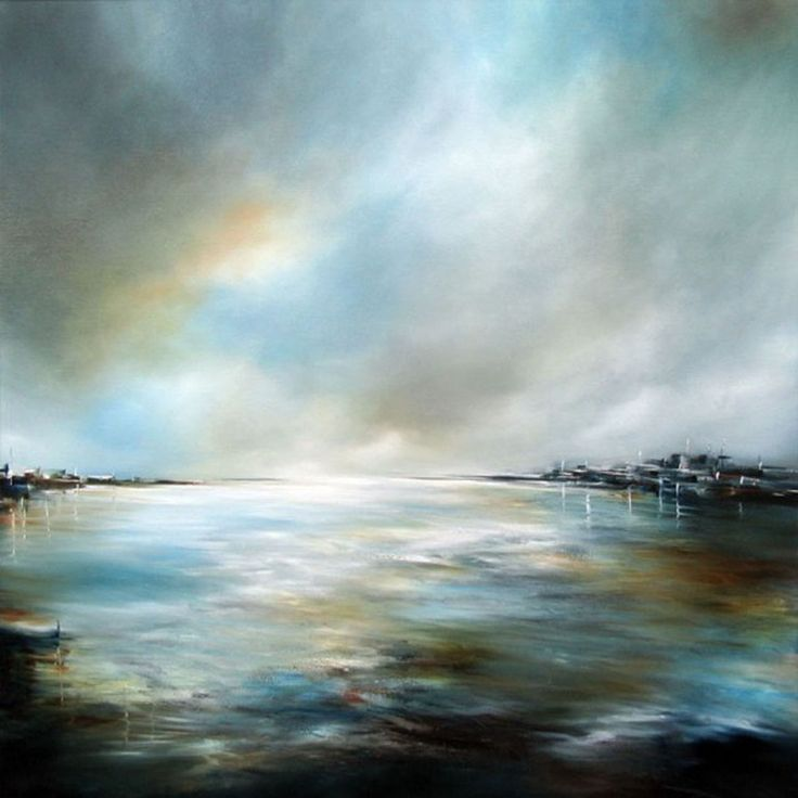 """Alison Johnson; Oil, 2012, Painting """"Breaking Light"""""""