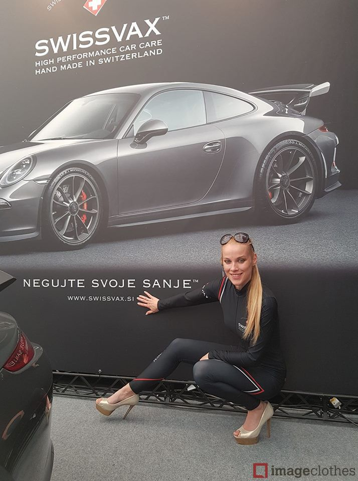 Make the most of your field marketing with Imageclothes. #imageclothes #swissvax #porsche #promotion #field #marketing #promo #gridgirls #clothes #dress #catsuite #amazing #umbrellagirls