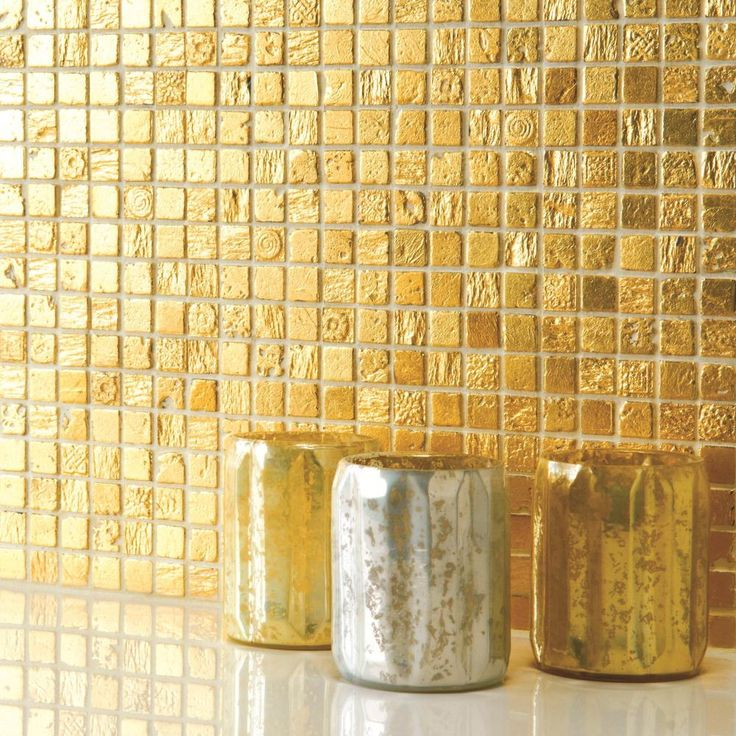 NEW: Armada Gold mosaics shimmer in the light. The perfect choice for creating a feature area. From Original Style's new collection.