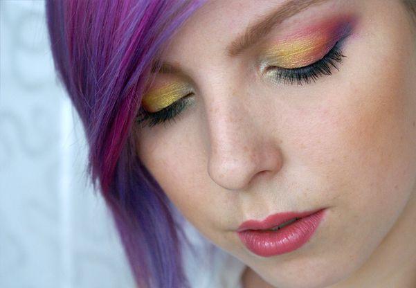 Levné Rychlé Duhové Oči Makeup Tutorial