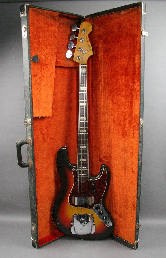 1966 VINTAGE FENDER JAZZ BASS GUITAR SUNBURST USA ORIGINAL 1 OWNER OHSC PLAYER. This looks like the bass I'm getting!!