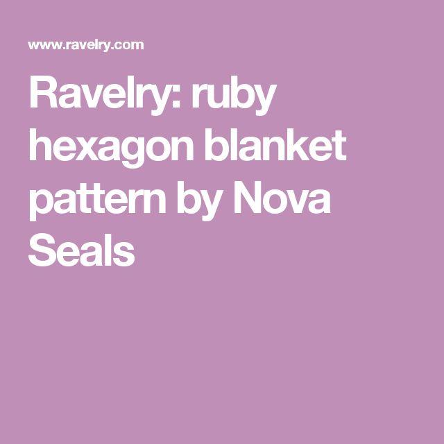 Ravelry: ruby hexagon blanket pattern by Nova Seals