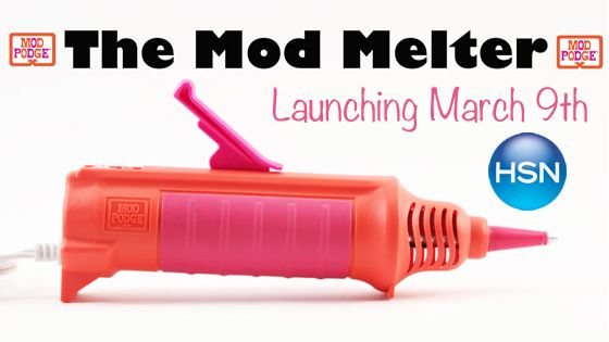 Crafter or DIYer? The new Must. Have. Tool. Introducing world launch of the new way to glue - the Mod Melter! Watch on @HSN on March 9, 2015! #modmelter #plaidcrafts