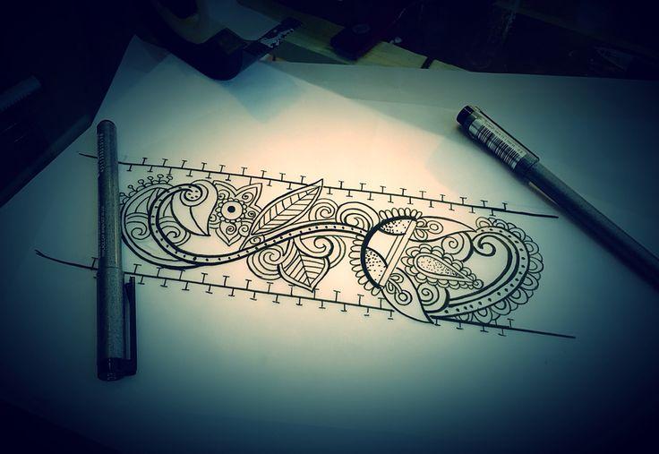 Bracciale ornamentale tattoo