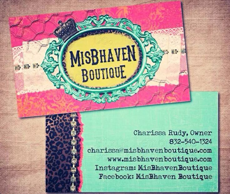 MisBhaven Boutique business card