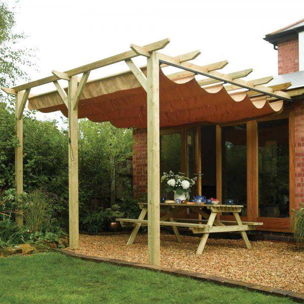 Rowlinson Sienna Canopy Sun Shade Rain Shelter Patio Cover