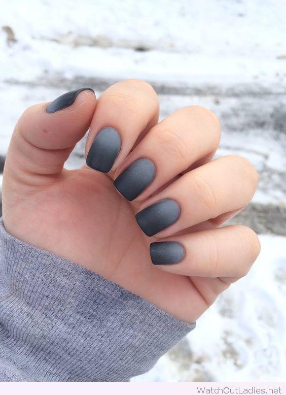 Grey ombre nails idea