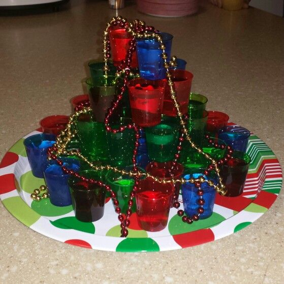 Christmas Tree Jello Shots!