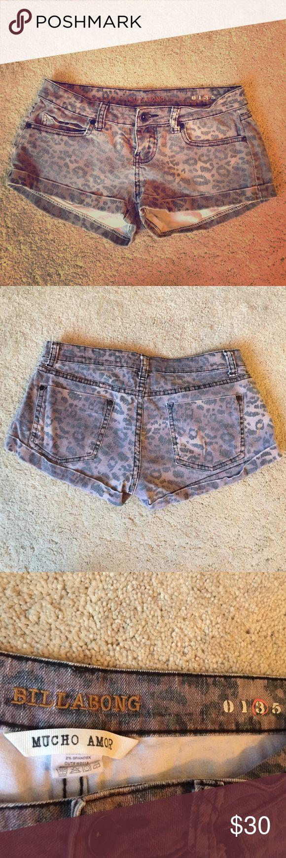 Billabong cheetah shorts Super cute billabong cheetah jean shorts! Very comfortable & perfect for going to the beach or going out. Billabong Shorts Jean Shorts
