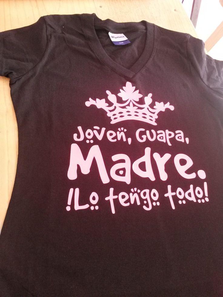 Playera Para El Día De Las Madres Estampados Con Vinilo Textil