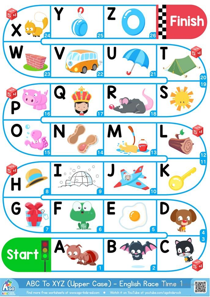 AZ Upper Case Alphabet ESL Board Game (With images