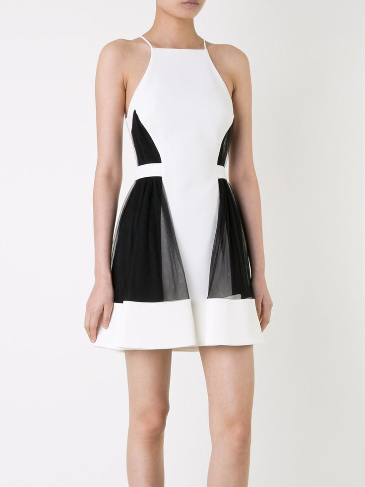 David Koma side tulle ruffle dress