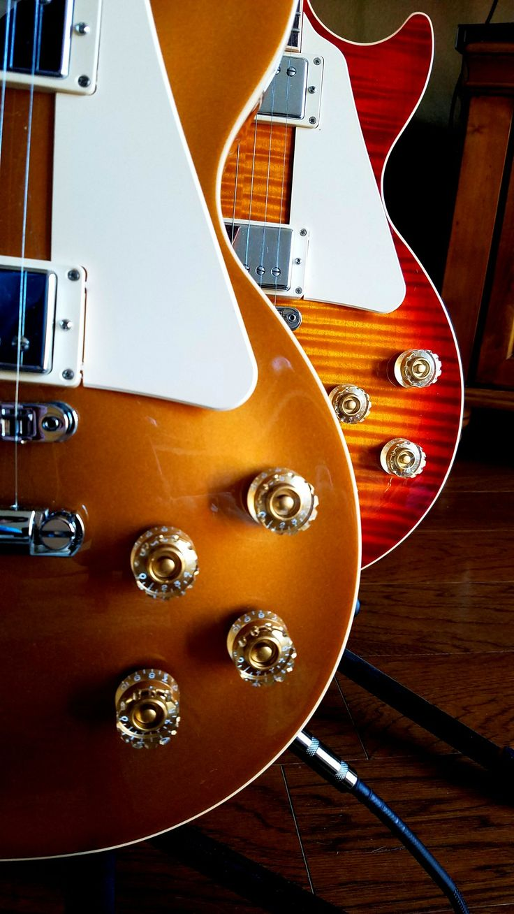 Gibson Les Paul Standards - Gold Top and Heritage Cherry Sunburst