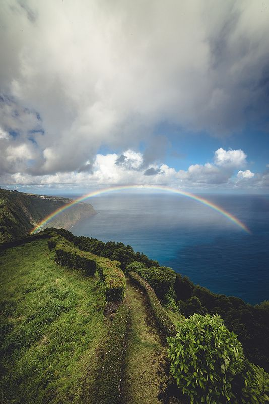 Rainbow Coast Nordeste, Azores, Portugal | by Zanthia - i am so entranced by the azores lately!
