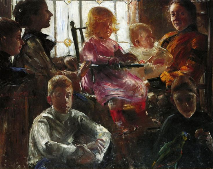 The Athenaeum - The Family of the Painter Fritz Rumpf (Lovis Corinth - )