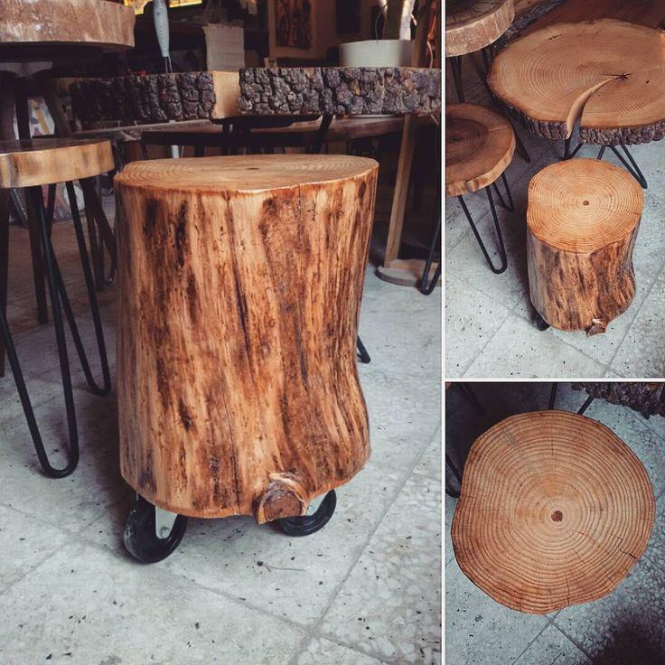 Natural Log Mini Tables from Ratolye.com