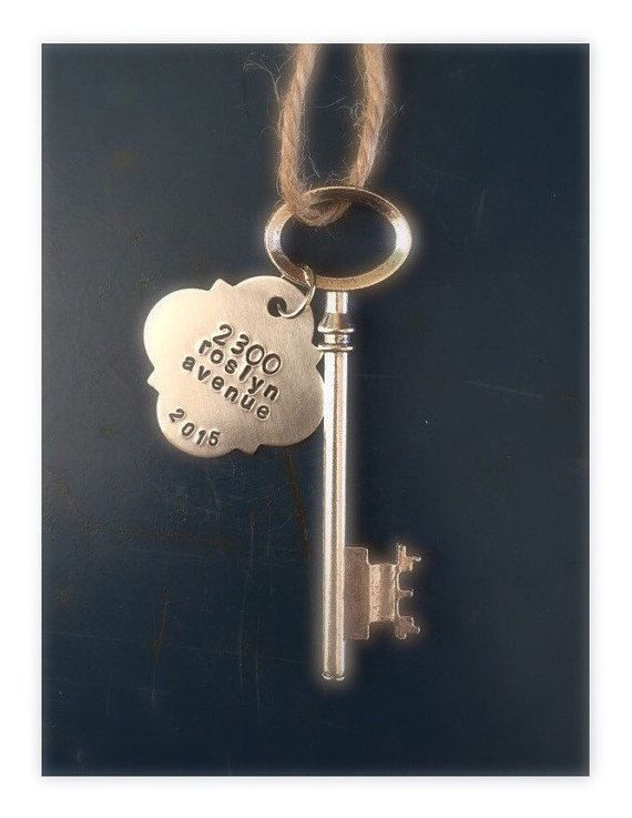 Housewarming gift New home gift realtor Key ornament by ancypants