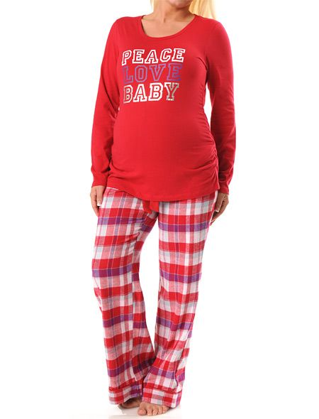 the latest maturnity christmas sleepwear | Motherhood Maternity , $24.99 for the set