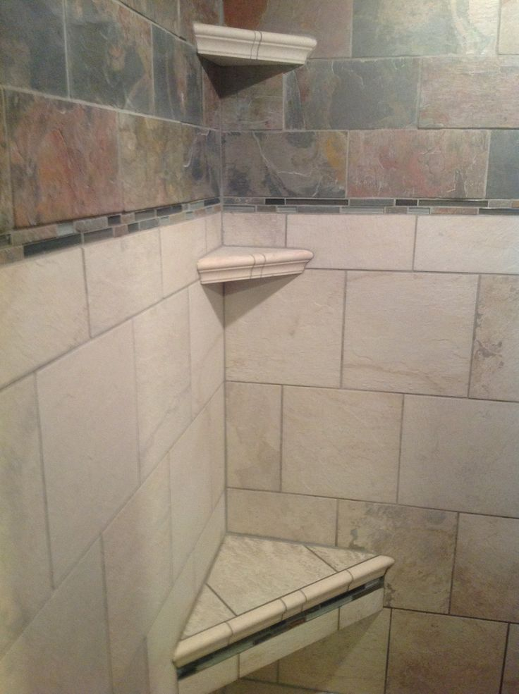 Built In Shower Seats And Shelves Diy House Ideas