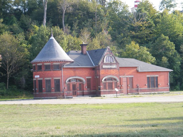 Old Goderich train station with slate roof