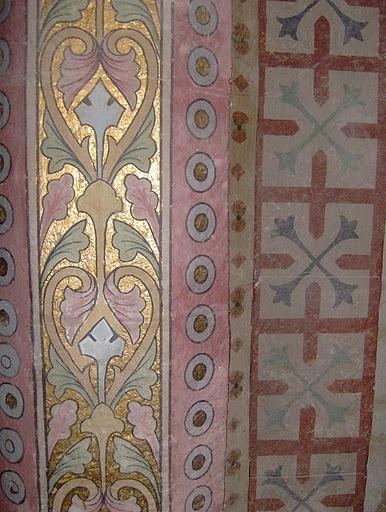 handpainted medieval Monsegur church patterns