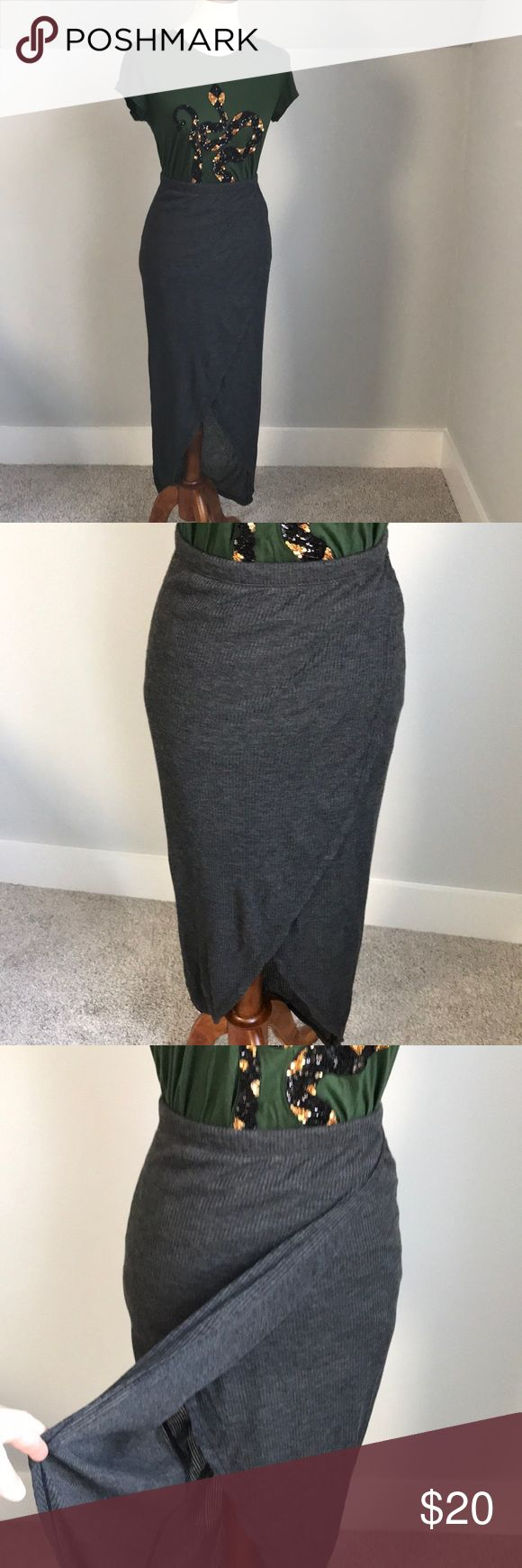 Tulip ribbed cotton skirt Perfect for the fall-winter transition.  Kind of a grunge look to it! Rue 21 Skirts Asymmetrical