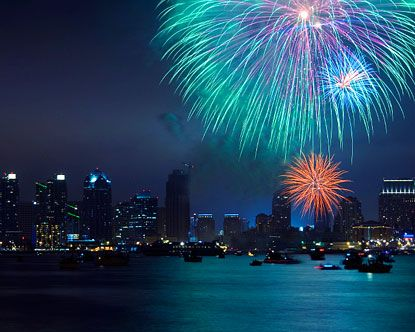 My dad and I had watched a fireworks show over the water....Simply BEAUTIFUL!!! Something I'll never forget