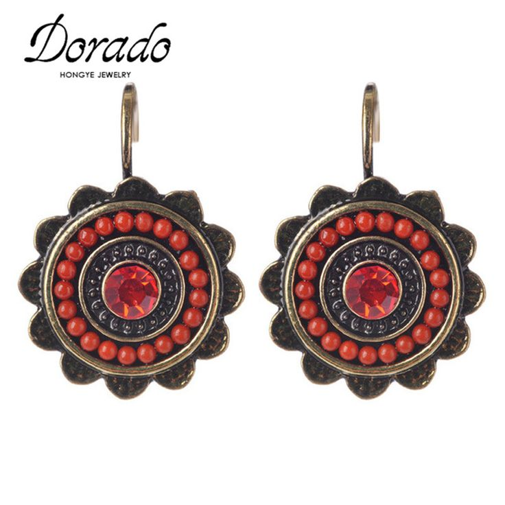 Dorado New Ethnic Jewelry Charming Vintage Resin Beads Drop Earrings For Women Fashion Earring Big Discount Cheap Sale