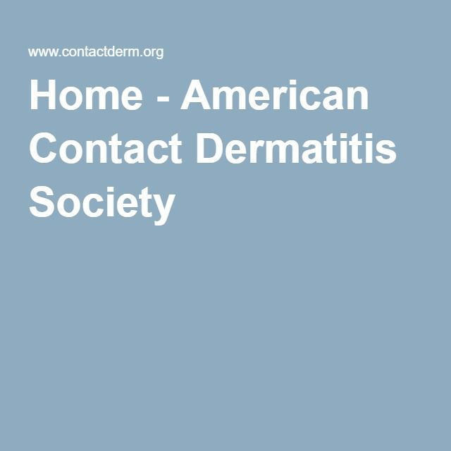Home - American Contact Dermatitis Society