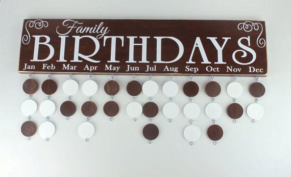 Rustic Family Birthday Board Custom Wood Sign by CustomVinylBoards