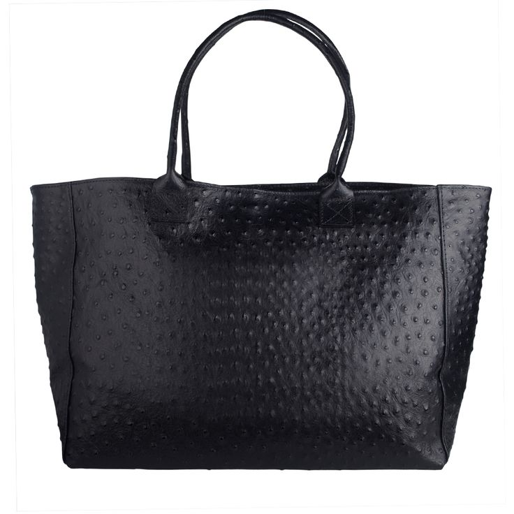 Maxine Ostrich embossed Italian leather shopper ..the perfect weekender or throw in all bag  made in Italy FREE SHIPPING WITHIN AUSTRALIA