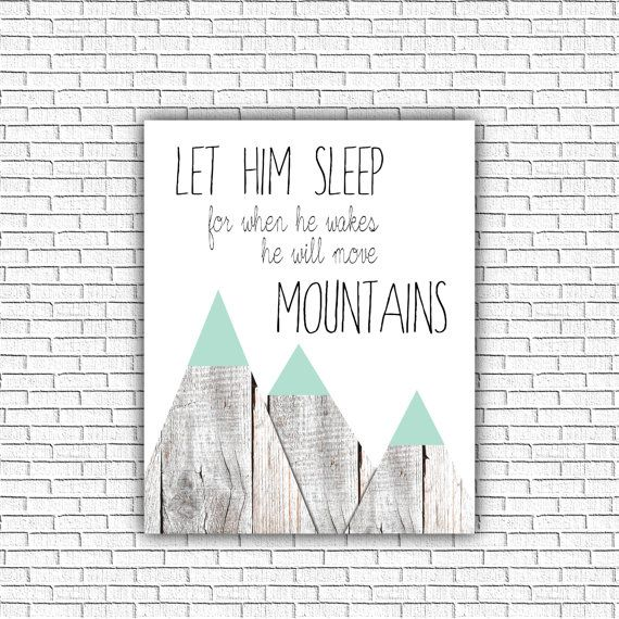 Printable Nursery art Let him Sleep for when by ZoomBooneCreations