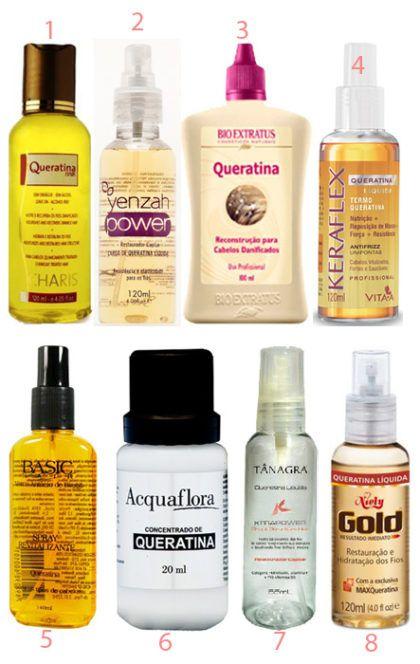 produtos com queratina para tratamento de cabelos