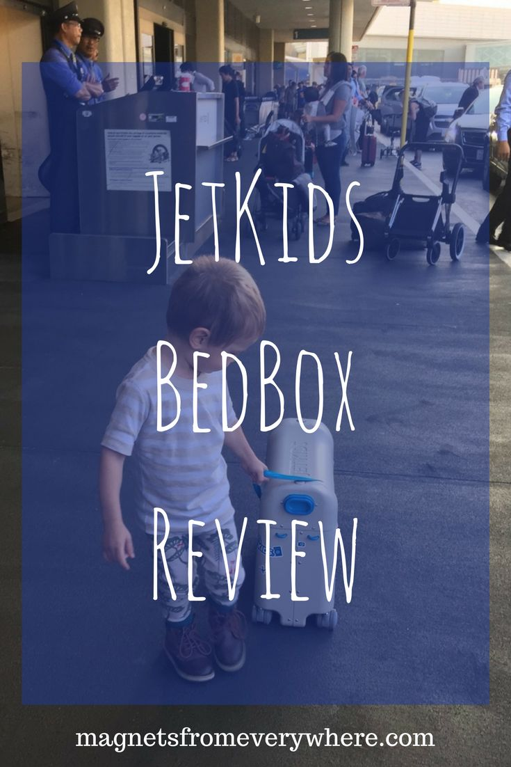 JetKids BedBox Review | Family Travel | Airplane Hacks via @magnetsfromeverywhere