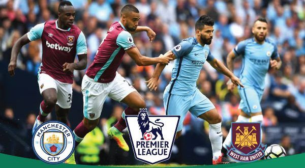 Manchester City Vs West Ham United Manchester City Live Football Match West Ham United