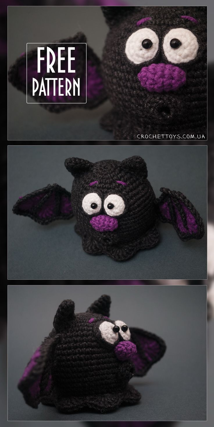 Free pattern Crochet Bat for Halloween - http://crochettoys.com.ua/index.php/en/                                                                                                                                                     More