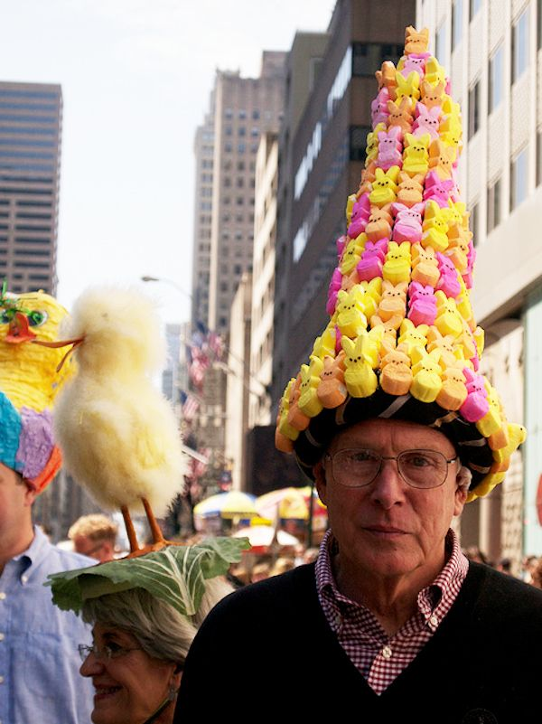 Another excellent peep hat. NY Easter Parade via Buzzfeed