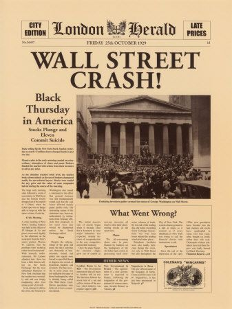 London Herald: The Wall Street Crash! (Friday,October 25,1929)