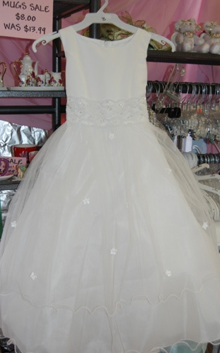 KD 198- Princess Tulle Dress  Ivory, perhaps pink depending on the shade. 89.99