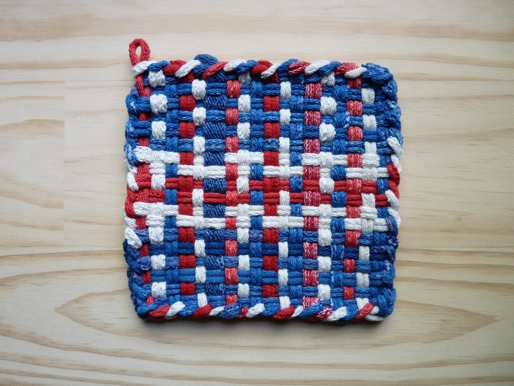 Red White and Blue Denim Patriotic Flag Colors Woven